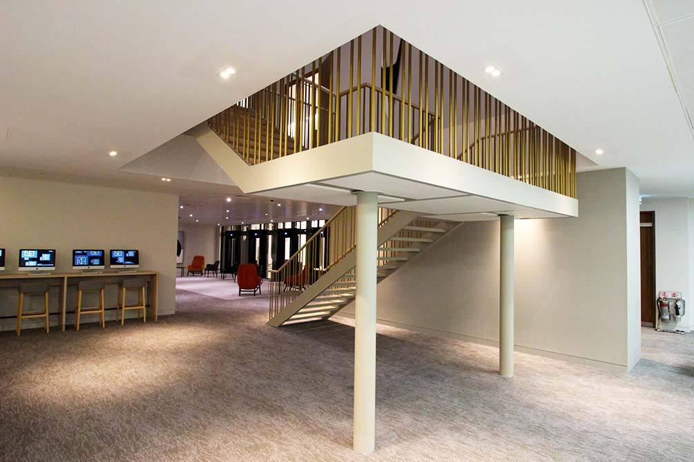 st james oak gold balustrades
