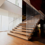 mirror polished stainless steel balustrade