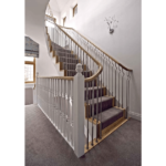 stainless steel balustrade with timber handrail