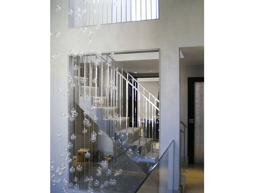 stainless steel balustrade with straight staircasse
