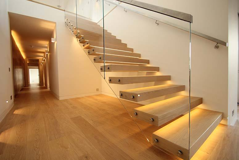Floating Staircase Lighting