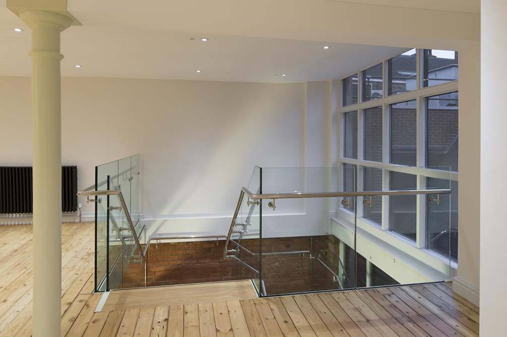 token glass balustrade