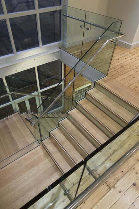 token glass steel balustrade