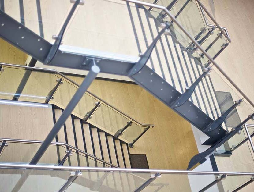 Queens Medical Centre stainless steel handrail