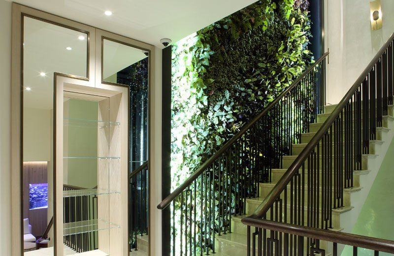 curved feature staircase laser cut mild steel balustrades