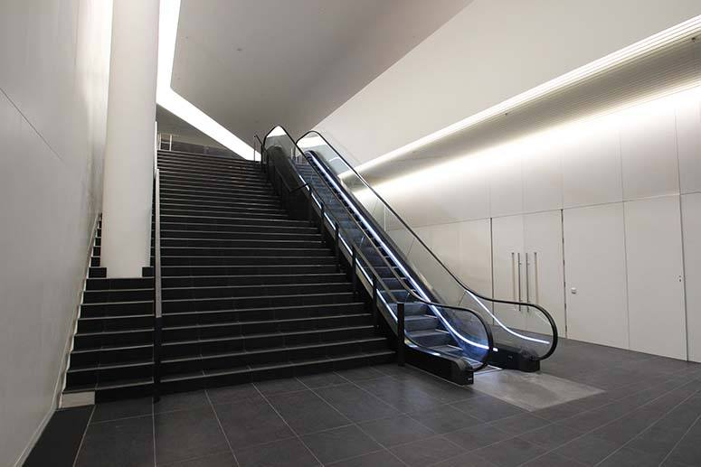 commercial staircase mild steel handrail