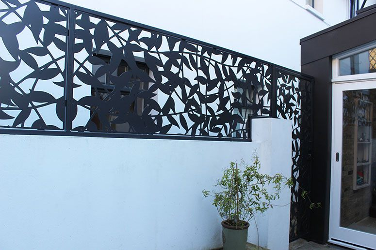 stainless steel privacy screen powdercoated