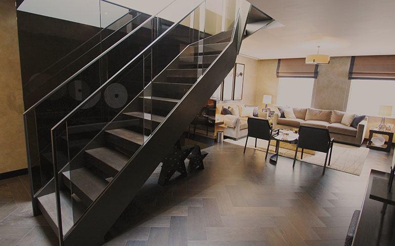 Open-riser-straight-residential-staircase