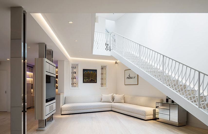 Large straight bespoke staircase