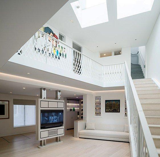 Mild steel bespoke staircase laser cut balustrade