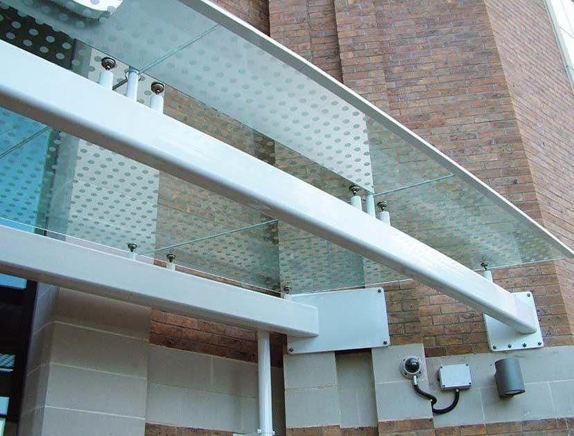 Portland Laminated Glass Canopy