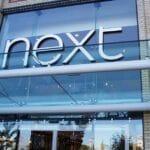 Next retail shop front canopy