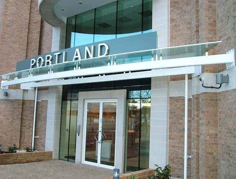 Portland entrance canopy