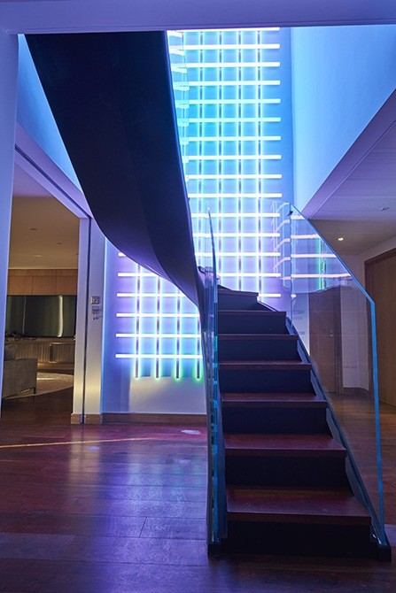 led-helical-metal-staircase