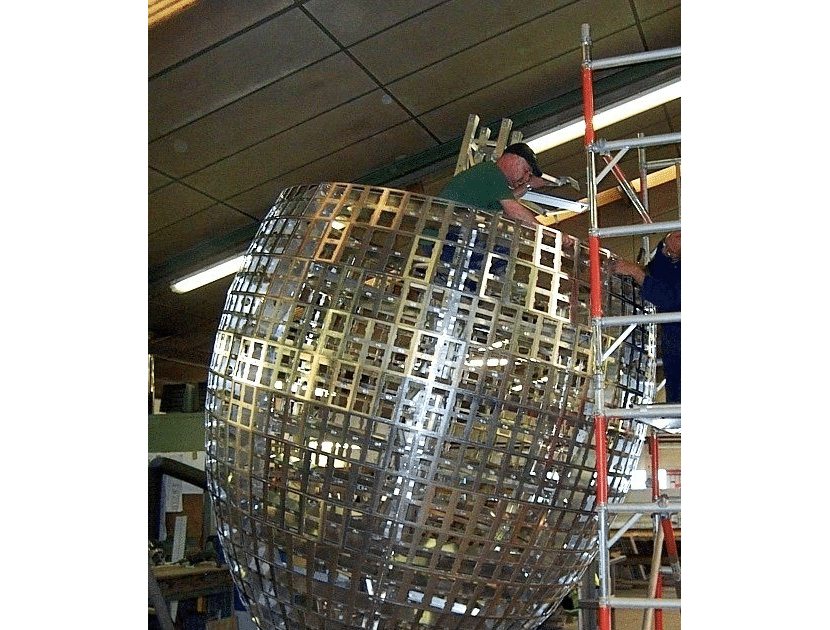 rugby ball sculpture build