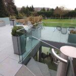 Terrace balustrade overlooking garden