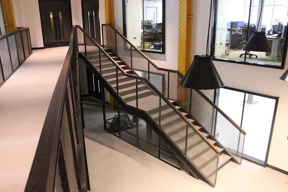 laser cut infill panels and timber handrail.