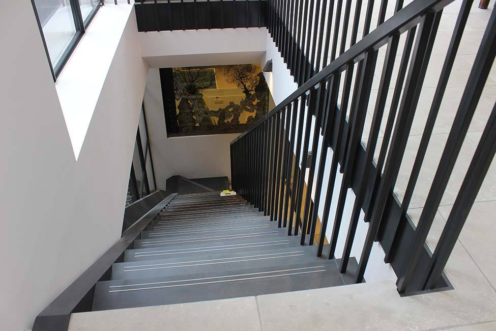 bespoke L-shaped staircase