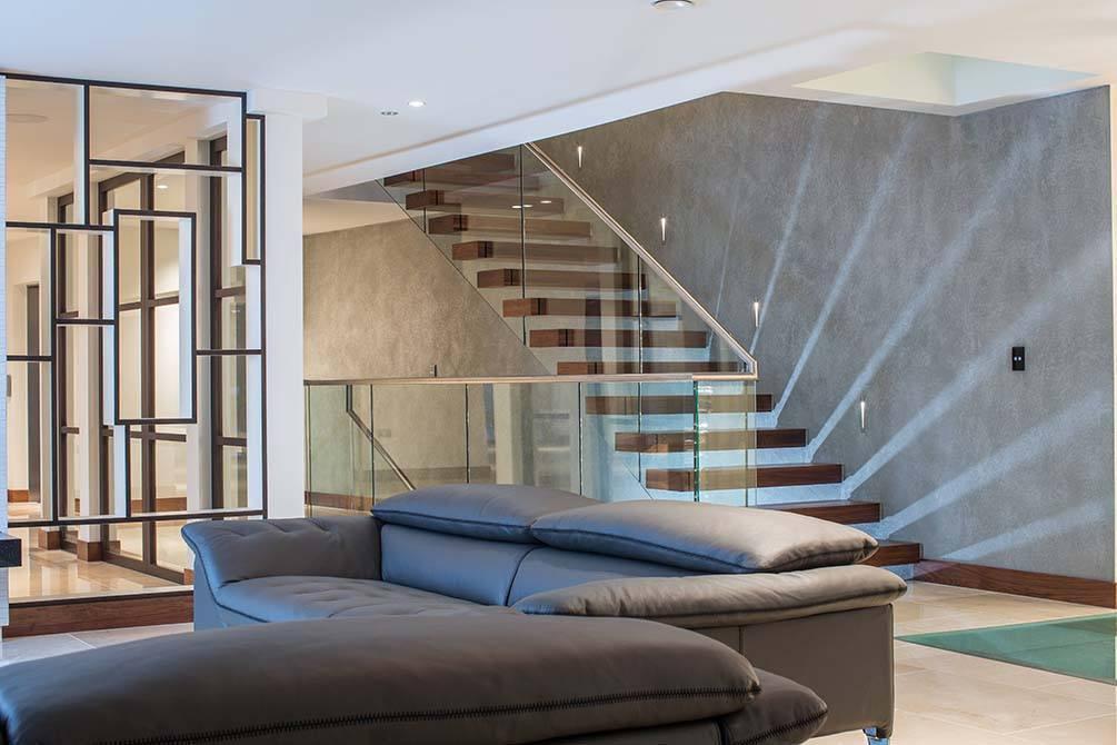 Bespoke light effect staircase