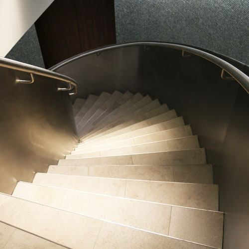 Helix staircase at a high end residential property