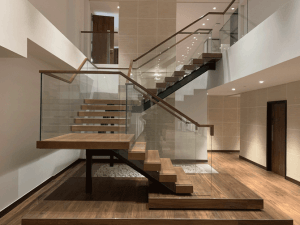 Modus Workspace staircase with glass balustrade