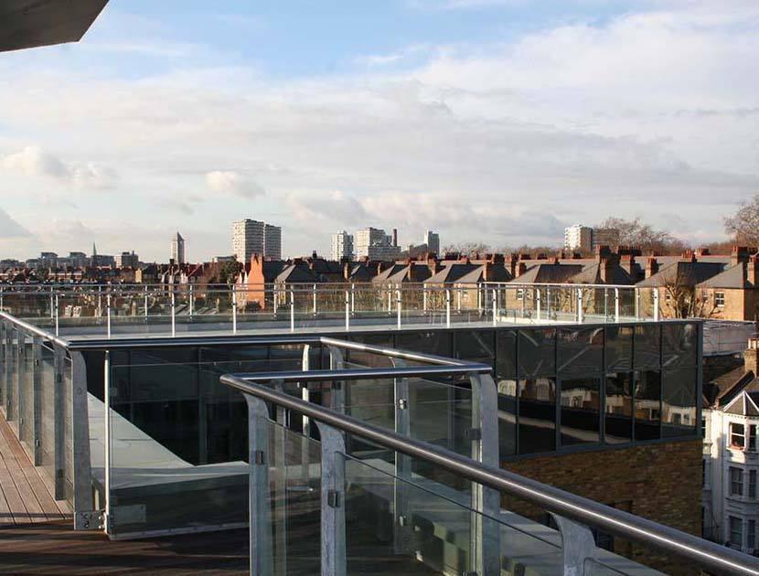 Battersea glass panel balcony balustrade